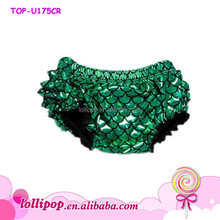 Beautiful mermaid new born baby clothes boutique baby bloomers wholesale