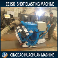 Steel plate portable type shot blasting machine