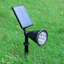 Upgraded Solar Lights 2-in-1 Outdoor 7led spot light Solar garden light