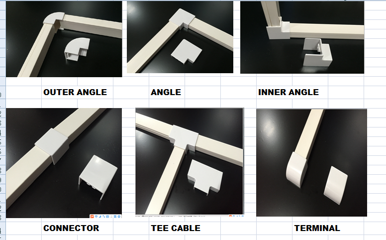 wiring trunking fittings for pvc cable