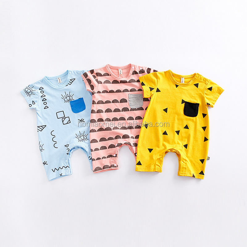 Wholesale Baby Clothes Organic Cotton Baby Romper Onesie