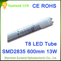 Star shape 72pcs 1300lm SMD2835 AC85-265V high quality t8 red tube tuv tube led tube 8tube