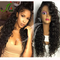 7A 8A Malaysian Virgin Hair Lace Front Kinky Curly Human Hair Full Lace Wigs With Baby Hair For Black Women