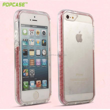 Newest high quality transparent bumper back case cover for iphone 5/se