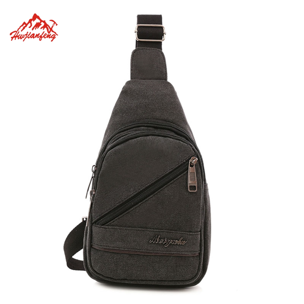New canvas Sling Military sling bag fashionable sport multifunction leisure chest bag and backpack