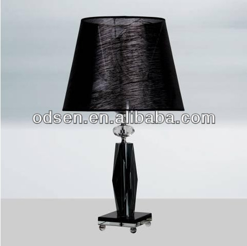 crystal decoration black chandelier table lamp