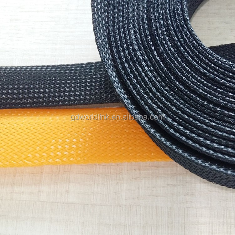 Plastic PET braided expandable sleeve for fibre protection