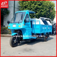 3 wheel motorcycle / petrol motorcycle truck 3-wheel tricycle / 3 wheel dump cargo truck with cabin for sale
