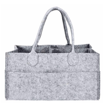 Portable Design Tote Felt Diaper Bag, Baby napkin Felt diaper caddy with Changing mat
