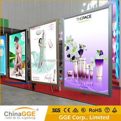 Slim Advertising Movie Poster LED Light Aluminum Frame Advertising Backlit LED Movie Poster Frame