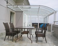 Polycarbonate Plastic Cover Outdoor Canopy Balcony Awning Design