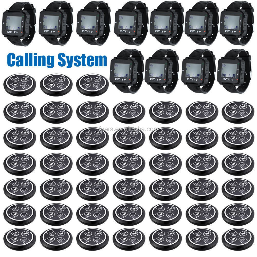 Restaurant Wireless Paging Systems Calling Watch Waiter Calling System Button Hospital