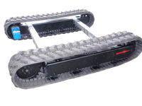 Rubber track chassis for small loading transportation equipment