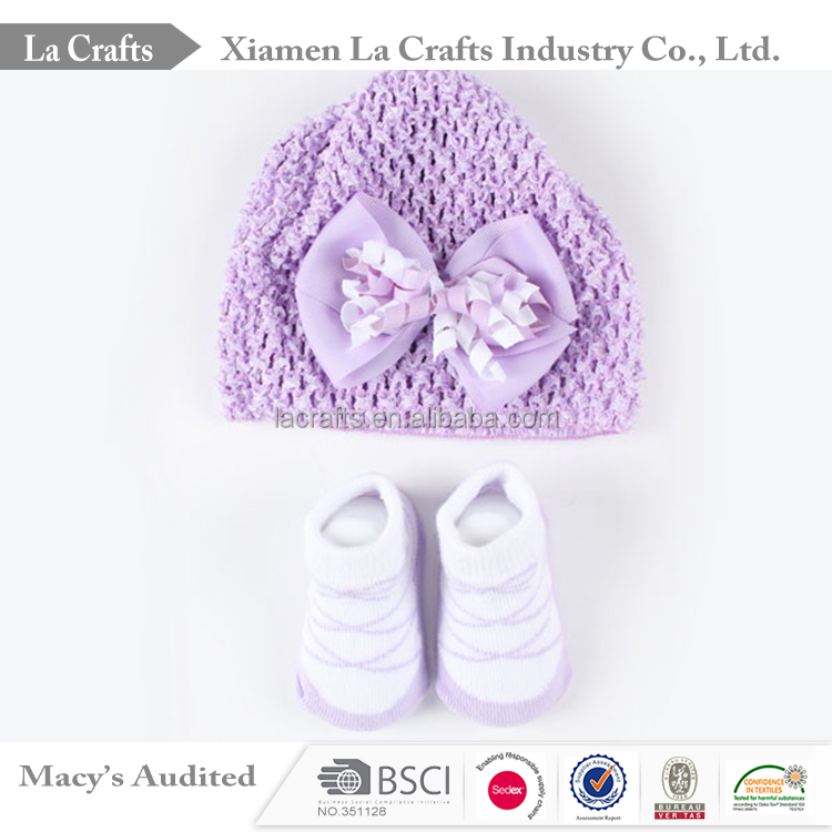 Newborn Girls Hat and socks Baby Shower Party Exhibition Souvenir <strong>Gifts</strong>