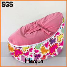 wholesale custom printed baby compressed foam filled bean bag