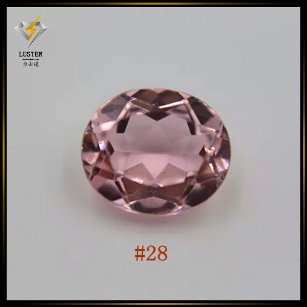 Precious Synthetic Stones Oval Cut Rough Morganite Gemstones for Sale