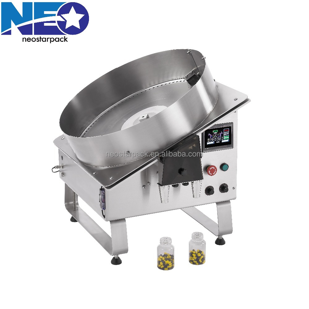 Fixture Rotary Counting Filling Machine/ 2 heads Counter for pharma, food products in bottles, bags