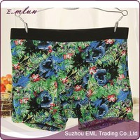 Custom print man ice silk seamless underwear men boxer shorts wholesale