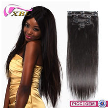Straight Virgin Malaysian Human Hair Clip In One Piece Hair Extension