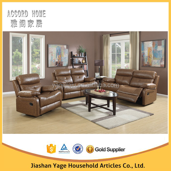 Cheap Reclining Sofa set 1+2+3 Leather sofa for lazy boy