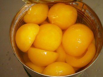 tasty canned yellow peach halves