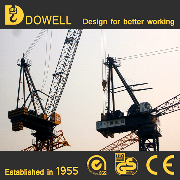 Self-ascending small standard 1-16t luffing tower crane