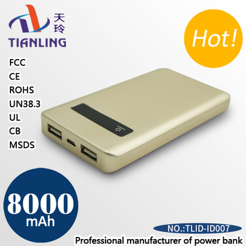 mobile powerstation plus power bank battery polymer panel 8000mah