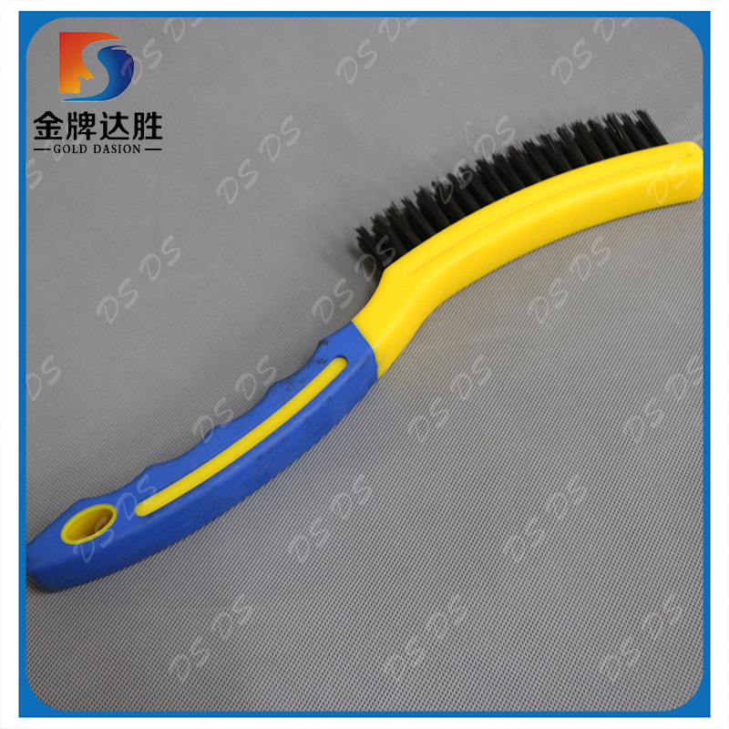 Manufactrer Carbon Steel Bristle Plastic Handle Barbeque Brush
