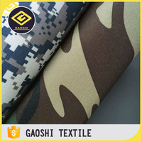 600D Polyester Pvc Printed Oxford Rucksack Military Camouflage Fabric