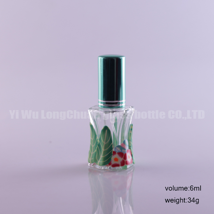 6ml Polymer Clay Spray Glass Empty Bottles Cosmetic Perfume Packaging Container