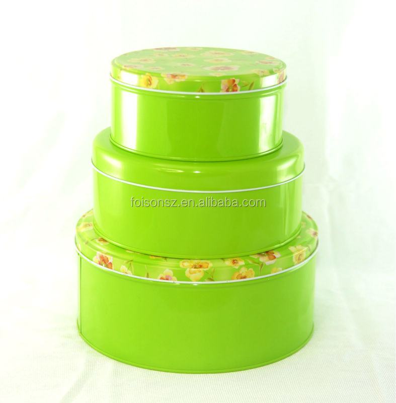 good quality hot sale round cylindrical pizza tin box