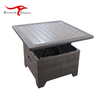 Leisure Garden Outdoor Rattan Wicker Coffee Extensible Table