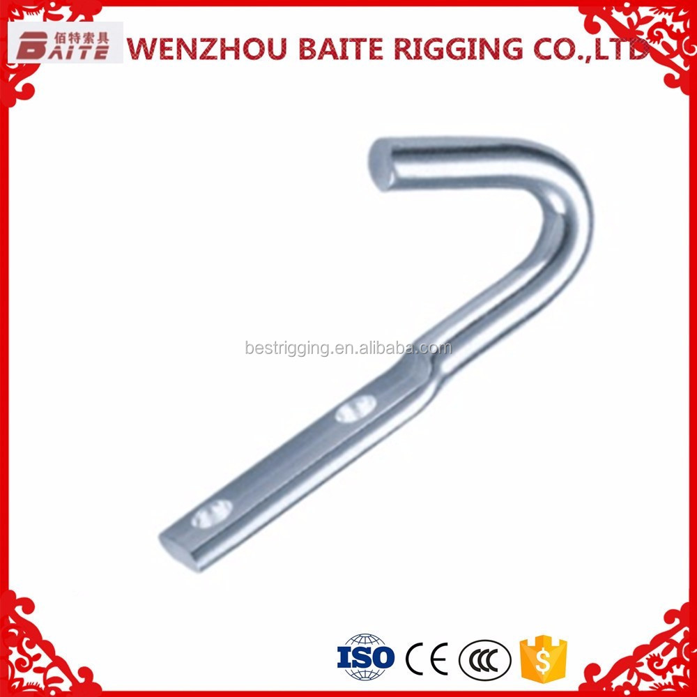 STEEL ELECTRIC GALVANIZED TARP ROPE HOOK BT--2008