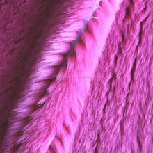 2017 Fashion and modern cut ditch pink faux fur