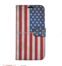 For Samsung Galaxy S7 Edge PU Leather Image Pough Flag Pattern Design Case