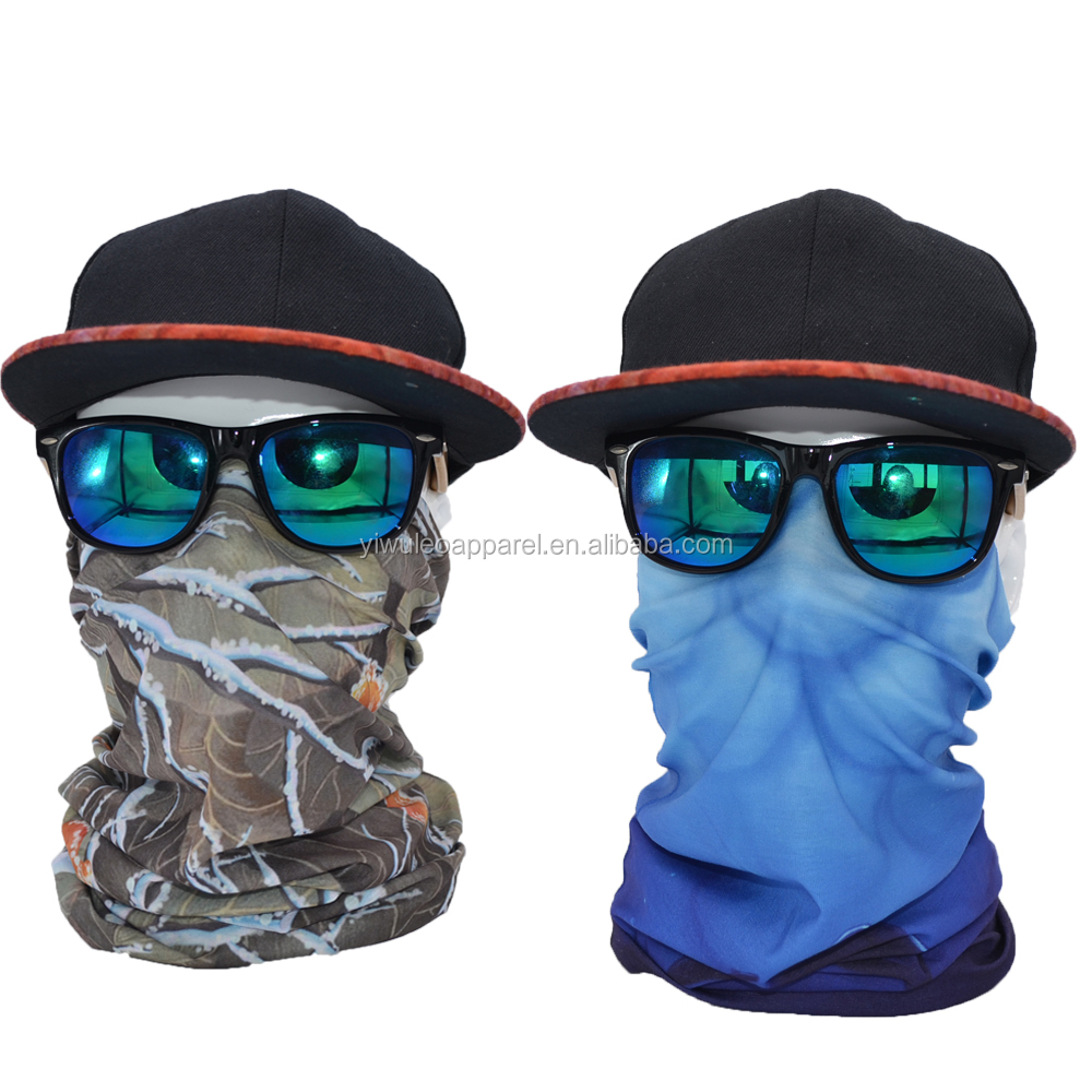 one piece outdoor custom logo high quality elastic tube fack mask bandana with printed