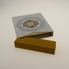 Hot stamping foil premium paper display drawer box for cigar