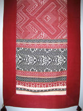 Laos Silk Blanket / Throw - Red and Black