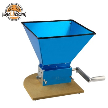 Stainless Steel 3 Rollers Barley Malt Mill Crusher Grain Mill Portable Grinder with Wooden Base Home Beer brewing Top Quality