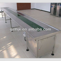 Stainless steel Stepless Speed Adjustment 90 degree belt conveyor