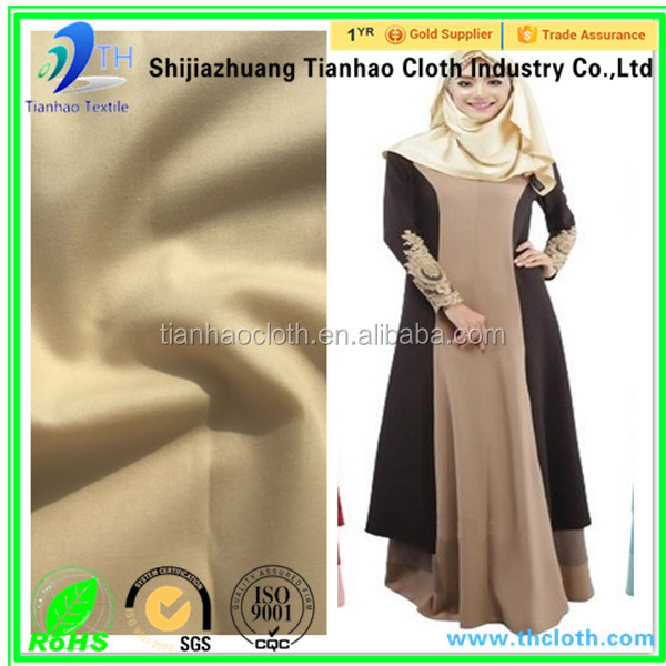 wholesale 100% formal korea abaya fabric for women dress