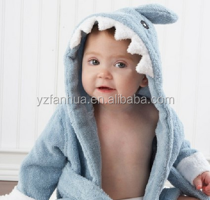 Cheap Stock Terry Animal Hooded Beach Robe For Baby