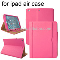 High quality PU Leather case for ipad air,for ipad 5 bag,for apple ipad air case