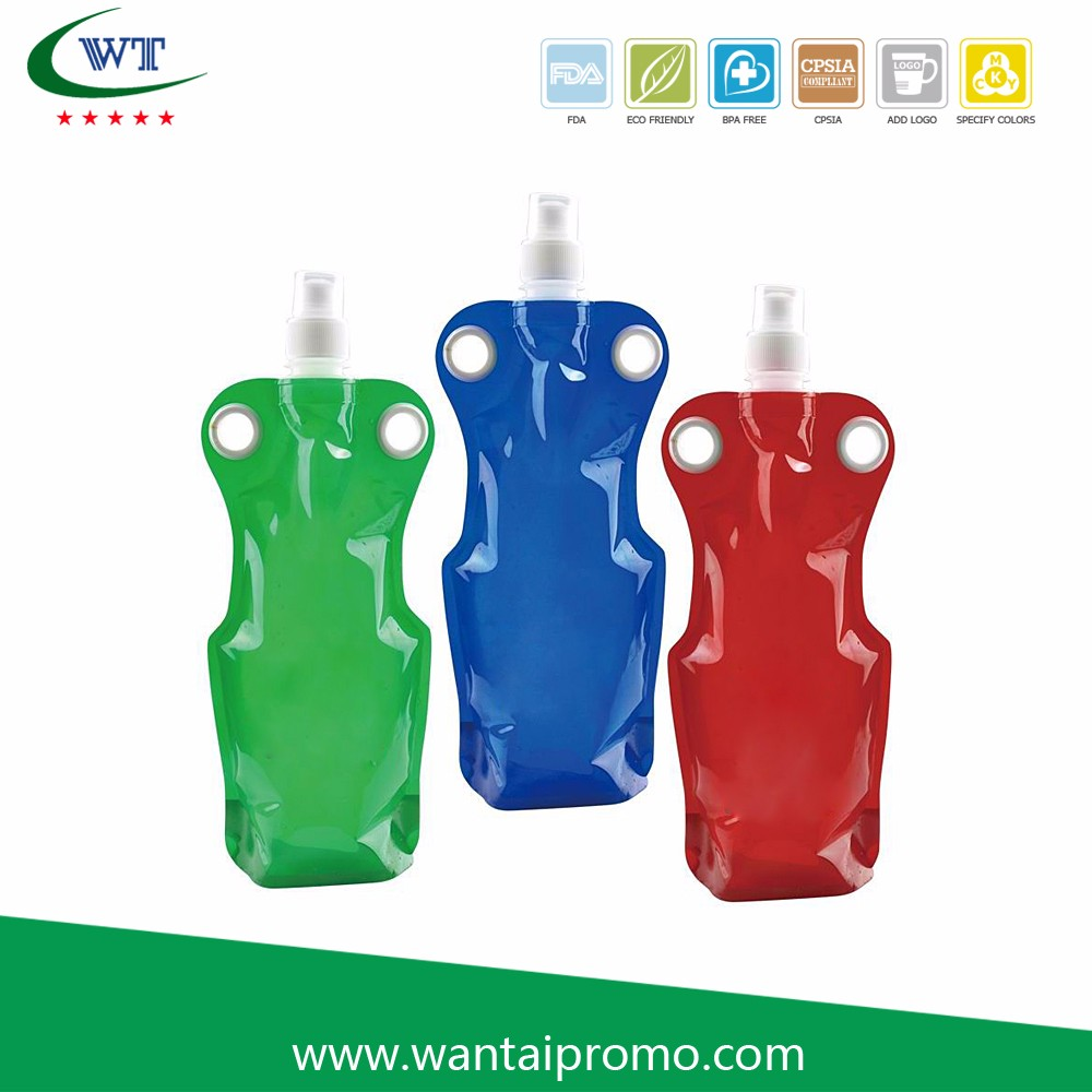 Environmental Portable Folding Water Plastic Bottle Bag