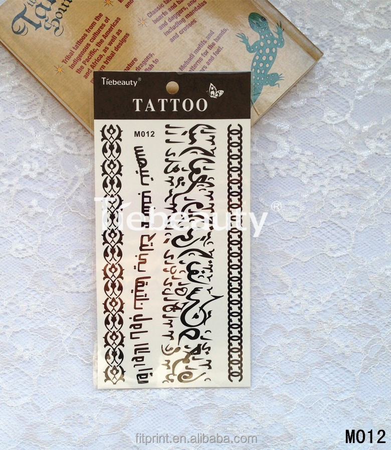 New fashonal girls tattoo letter pattern temporary tattoo sticker body art tattoo