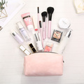Large capacity customized girls pink PU leather toiletry makeup bag