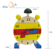 Wooden Educational Toys 3D Puzzle Clock Shape Learning Color Number and Playing