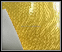 high gloss pearl leather imitation animal skin embossed pvc leather