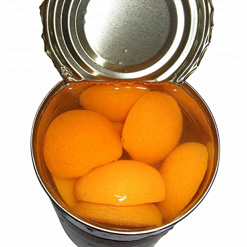 Canned/tinned apricot halves in light syrup