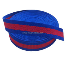 woven pp webbing red and blue striped